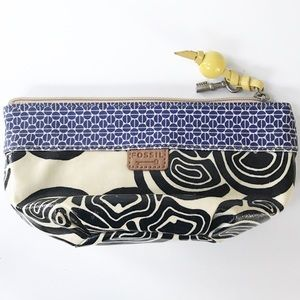 FOSSIL Key Per Wedge Cosmetic Case-Coated Canvas